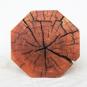 octagon stool in ash wood
