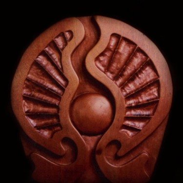 woodcarving of pearl in philippine mahogany